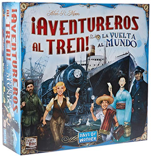 Days of Wonder-¡ Aventureros Al Tren-La Vuelta Al Mundo-Español, color (EDGE DW720826) , color/modelo surtido