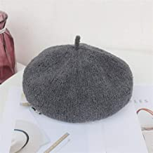HaiNing Zheng Ms. Autumn and Winter 2019 Japanese Plush Loop Yarn Beret Painter Cap Retro Wild Autumn and Winter Warm Pumpkin hat (Color : Grey, Size : One Size)