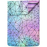 Lex Altern Laptop Sleeve Case for MacBook Air 13 Mac Pro 16 15 Retina HP Dell ASUS Acer Lenovo 11 12 14 17 inch 2019 Iridescent Geometric Holographic Rainbow Cute Design Women Leather Cover Carrying