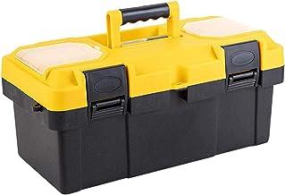 Draagbare gereedschapskoffer, afneembaar, tweelaags, versterkt dienblad, gereedschapskist, robuuste gereedschapskoffer met...