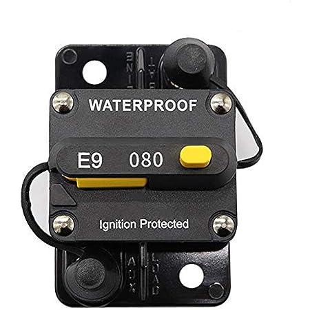 Kkmoon 80a Schutzschalter Leistungsschalter Schalterfeld Wechselrichter Handrücksteller Für Auto Truck Rv Marine Trailer Auto