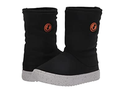 Save the Duck Kids Faux Fur Lined Snow Boots (Little Kids/Big Kids) (Black) Kids Shoes