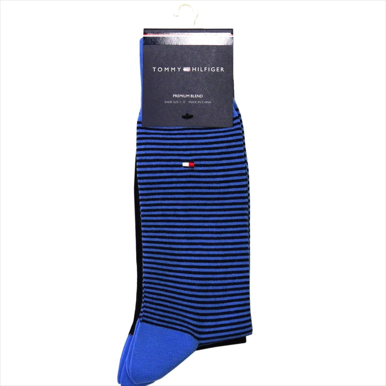 トミーヒルフィガー TOMMY HILFIGER ソックス ワンポイント柄系靴下 2足セット ブルーxネイビー系 ATA176-colorD70 [並行輸入品]