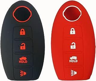 Coolbestda 2Pcs Silicone Smart Key Fob Cover Protector Keyless Jacket Remote Control Holder for Nissan Altima Maxima Murano Armada Gt-r Sentra