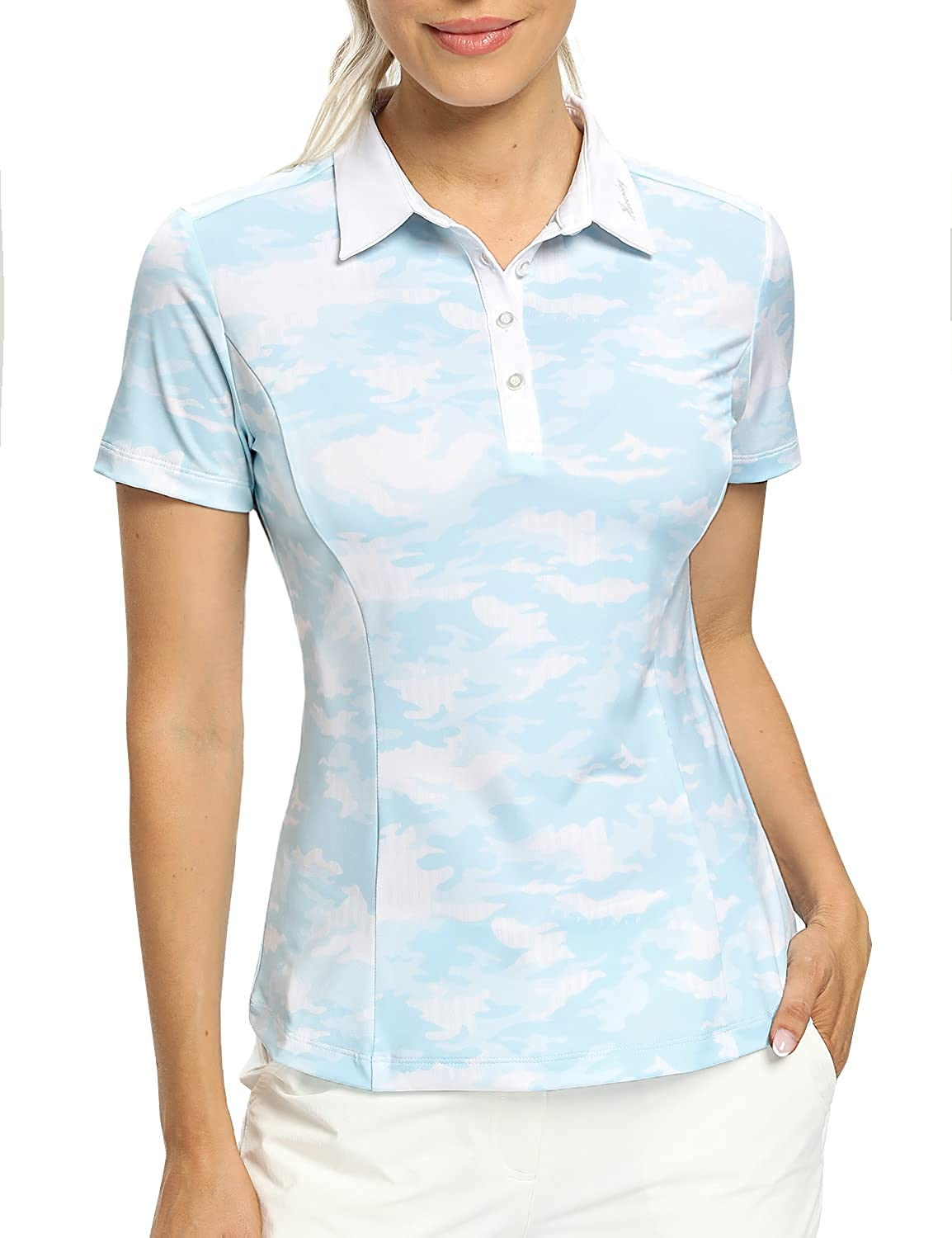 Hiverlay Women's Golf Polo Shirts Max 47% OFF Women Camo Sli Limited price for