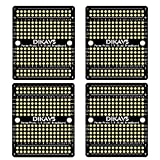DIKAVS Perma-Proto Quarter-Sized Breadboard PCB Double-Sized Welding Breadboard PCB Universal Printed Circuit Board for Arduino (Pack of 4)