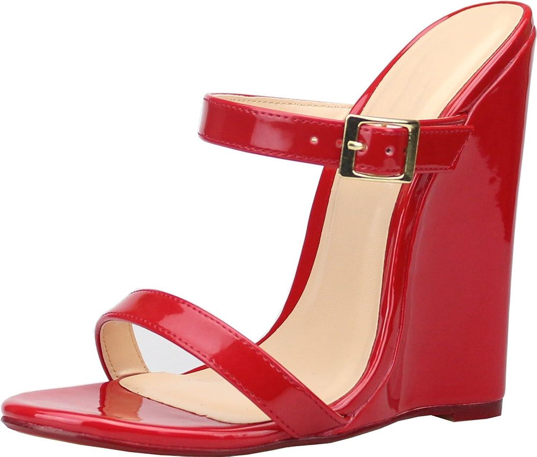 Vimedea Womens Comfort Wedge Heeled Cross Gender Oversize US9-15 Wedge Sandals A-36