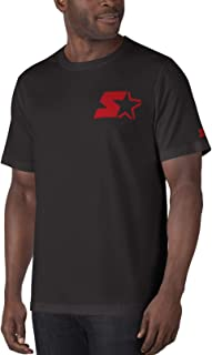 Starter Mens Shirt Black US Size Large L Graphic Crew Tee Short Sleeve