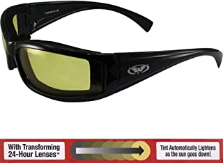 Global Vision Transition Stray Cat 24 Sunglasses with Yellow to Smoke Anti-Fog Photochromic Lens
