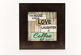 Summer Snow This House Runs On Love Laughter and Coffee Kitchen 12x12 Decor Framed Art