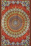 Sunshine Joy Handmade Cotton Grateful Dead Tapestry Psychedelic Bear Vibrations 60x90 w/Loops