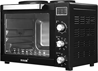 Maxkon 60L Electric Oven Benchtop Convection Oven Rotisserie Portable Toaster with Hot Plates