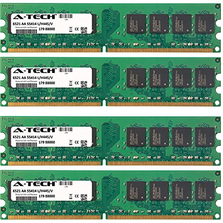 8GB KIT (4 x 2GB) for Dell XPS Desktop Series 420 600 (DXG051) 625 630 630i 720 720 H2C. DIMM DDR2 Non-ECC PC2-6400 800MHz RAM Memory. Genuine A-Tech Brand.