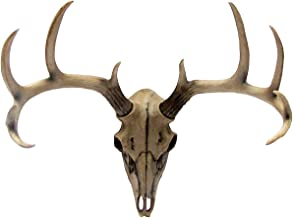 Atlantic Collectibles 10 Point Buck Head Skull Wall Mounted Hanging Plaque Figurine 18.5