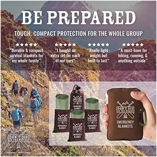 World's Toughest Emergency Blankets | 4 Pack Extra Large Thermal Mylar Foil Space Blanket Heat Sheets For Hiking… 4
