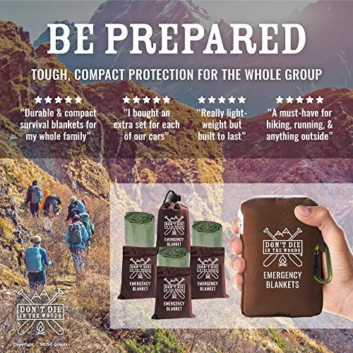 Don't Die In The Woods Emergency Blankets