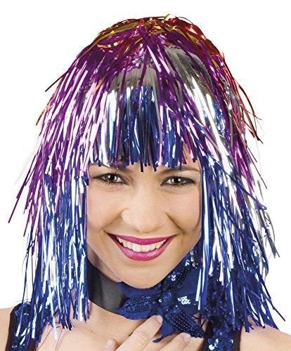 Perruque carnaval folienperücke multicolore