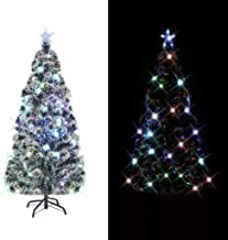 vidaXL Arbre de Noël Artificiel et Support LED 180 cm 220 Branches Sapin Décor
