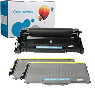 Color4work TN360 Toner Cartridge DR-360 Brother Drum Kit (1 Drum,2 Toner,3 Pack) High Yield Replacement for Brother DCP-70...