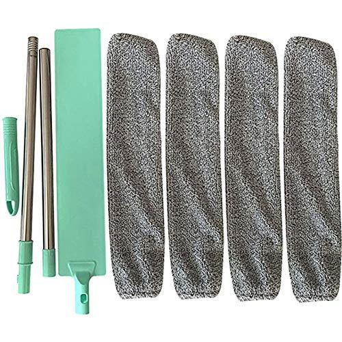 GreatestPAK Bedside Dustbrush Long Handle Mop Wiederverwendbare Bürste für Microfiber Duster