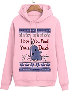 Bye Buddy Hope You Find Your Dad Sweatshirt Funny Ugly Christmas Sweater for Women