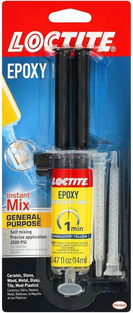 Loctite 1366072 0.47 oz Instant Yellow Translucent Epoxy Max 51% OFF Mix Recommendation