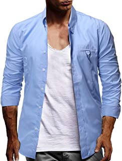 Solid Color Large Size Men'S Shirts Button Long Sleeve Casual Loose Work Comfort Coat Tops Blouse Tees
