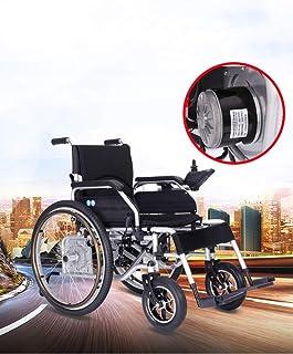 Lunzi Nueva silla de ruedas eléctrica ligera de control plegable, silla de ruedas eléctrica para