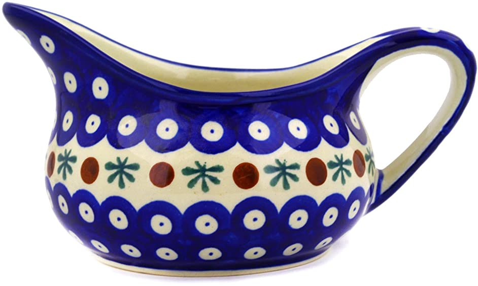 Polish Pottery 18 oz Gravy Boat (Mosquito Theme) + Certificate of Authenticity