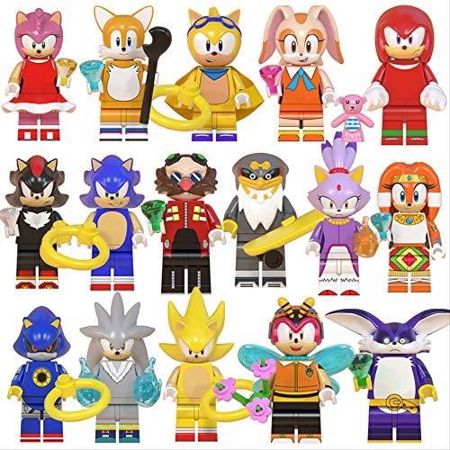 Sonic Spielzeugmodell Sonic der Igel Sonic Boy Eierkopf Dr. Tars Shatner Kreuzfahrt-Baustein Spielzeug 16 Stück/Set