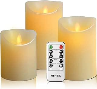 OSHINE flameless Candles, flameless Candlestick, flameless Battery Candles, Battery Remote Control Candles, LED Candles 3 Piece Set 4