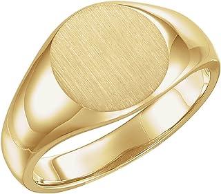 خاتم سيجنيت للرجال من الذهب الأصفر عيار 14 قيراط عيار 13 مم من إف بي جويلز