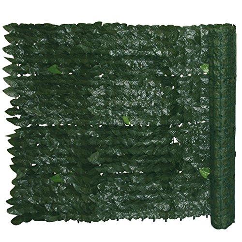 WEBMARKETPOINT Siepe sintetica giardino con foglie di edera Cm 1x20 m Evergreen Edera
