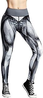 Qootent Yoga Pants Printed Workout Leggings Fitness Sports Athletic Sweatpants