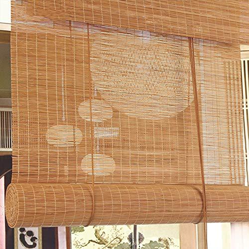 XYNH Persiana Estor De Bambú-estores Bambú Cortina De Madera-Sombra/Aislamiento Térmico-Rollo Bambú Ventanas-Se Puede Personalizar El Tamaño