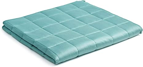 Best YnM Bamboo Weighted Blanket — 100% Natural Bamboo Viscose Oeko-Tex Certified Material with Premium Glass Beads (Sea Grass, 48