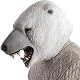 Carnival Toys - Máscara de oso polar, color blanco, talla única, 1490