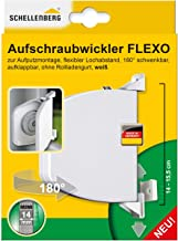 Schellenberg 50153 Flexo opschroefwikkelaar, openklapbaar, 180° draaibaar, riembandsysteem MINI, riembreedte 14-15 mm, gat...
