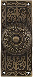 House of Antique Hardware R-010MG-314-AB Large Victorian Solid-Brass Doorbell Button in Antique Brass