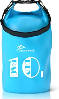 Jasonwell Waterproof Dry Bag 10L Roll Top Sack Keeps Gear Dry for Paddleboarding Kayaking Rafting Boating Swimming Beach F...