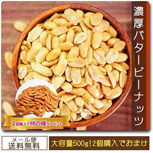 巌流庵 濃厚バターピーナッツ 500g 大容量セット バタピ 500g バターピーナッツ