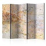 murando Raumteiler Abstrakt Foto Paravent 225x172 cm beidseitig auf Vlies-Leinwand Bedruckt Trennwand Spanische Wand Sichtschutz Raumtrenner Home Office beige Gold grau f-C-0142-z-c