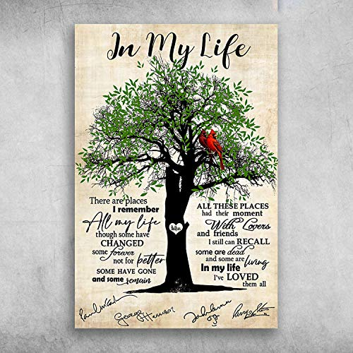 Depslee The Beatles In My Life There Are Places I Remember All My Life, Wall Art Print Canvas Gallery Wraps Ready to Hang Wall Decoration, Home And Office Decor
