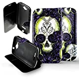 1001 coques – Funda para Alcatel One Touch Pop C7 Folio de calavera morado