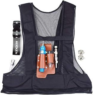 熱中症対策 溶接作業 冷却器 クールベスト 冷却ベスト  個人用冷却器 コンプレッサーに接続だけ 水油分離 (黒)
