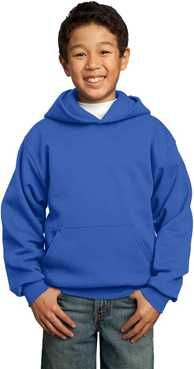 Port & Company - Youth Pullover Hooded Sweatshirt, PC90YH, Royal, XL