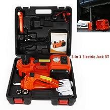 Car Repair Tool 12V Car Electric Jack 3 in 1 5T Electric Hydraulic Floor Jack Impact Wrench Inflator Pump Lifting Tool Kit For Sedans, Off-road vehicles, Vans