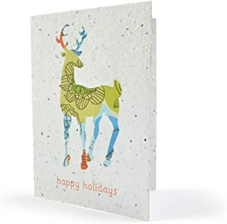Bloomin Seeds N' Greetings Cards - Handmade Seed Paper - Happy Holidays {8 Pack}