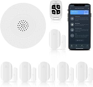 Kit de alarma inteligente WiFi de 8 piezas, sistema de seguridad para el hogar (con sirena de alarma, sensores de puerta d...