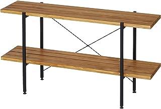 ドウシシャ(Doshisha) ラック オープンシェルフ ラック2段(幅120cm) 幅120×奥行34.5×高さ64cm オイルステインラック 2段 OR1264-2